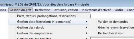 La validation des demandes de réservation dans BCDI