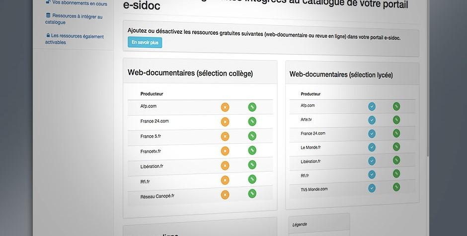De nouvelles ressources gratuites intégrées au catalogue de votre portail e-sidoc